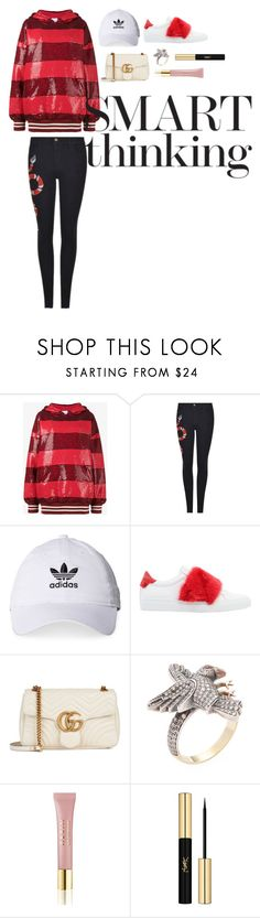 """""""Untitled #170"""" by xoutfiter ❤ liked on Polyvore featuring Ashish, Gucci, adidas, Givenchy, Amrapali, AERIN and Yves Saint Laurent"""
