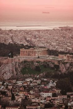 Athens.. The old and the new city...Acropolis in the middle,