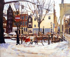 Amsterdam in the snow, Fiona Peart