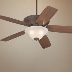"52"" Casa Vieja Corte Bella Washed Copperleaf Ceiling Fan   LampsPlus.com"