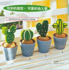 Cactus - Foto Photo: This Photo was uploaded by erchristianini. Find other Cactus - Foto pictures and photos or upload your own with Photobucket free im. Cactus En Crochet, Knit Or Crochet, Cute Crochet, Crochet Toys, Crochet Flower Patterns, Crochet Flowers, Faux Plants, Cactus Plants, Cacti