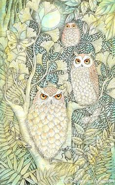 Suzanne Gyseman.  Tree of Owls