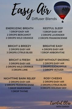 Easy Air Diffuser Blends | Breathe Diffuser Blends | dōTERRA Essential Oils