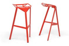 Baxton Studio Kaysa Bar Stool in Set of 2 The versatile Kaysa bar stool is the bare minimum of a stool in its form but though only a basic frame, it still manages to delight. The fully-assembled aluminum frame with non-marking feet is suitable for both indoor and outdoor use. This modern barstool is sold as a set of two, made in China, and is fully assembled.Features:Industrial bar stool designBlack coated aluminum frameNon-marking feetStackableSold as a set of twoFully assembledMade in…