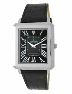 Le Chateau Men's 1808LCM_LEA_BLKandGRMOP Diamond Accented Watch Le Chateau. $45.62. Genuine diamond. Mother of pearl dial. Water resistant to 99 feet (30 M). All steel. Three year warranty