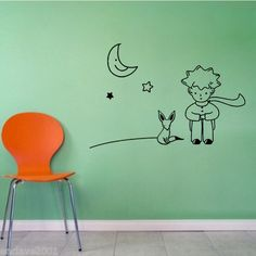 Cheap decal stickers motorcycle, Buy Quality stickers promo directly from China sticker epoxy Suppliers: Removable Little Prince Fox Moon Star Wall Sticker Art Vinyl Decal Vinilo El Principito Home Decor Sticker Art, Wall Stickers Murals, Wall Decals, Wall Art, Vinyl Art, Vinyl Decals, Little Prince Fox, Prince Nursery, Moon Decor