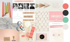 T H E S E C R E T I S T O D R E A M: business card and website inspiration collage | graphic