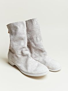 Visions of the Future // Guidi Mens Reverse Bison Leather Ankle Boots