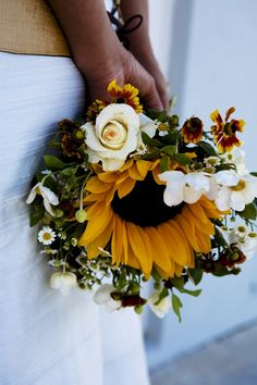 Sunflower Bouquet. I love this!!!!!!