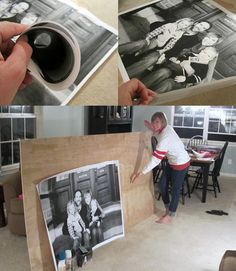 If you're looking for a thrifty way to have gigantic (monochrome) prints made of your photographs, look no further than your local Staples. Monica and Jess