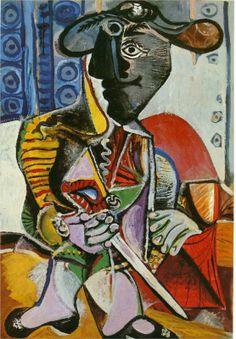 Neredeyse butun eserlerinde aynasi kirik insanlar gordugum ustad... Matador - Pablo Picasso, 1970