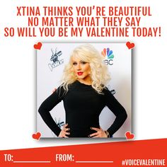 It's a beautiful day to tell someone how beautiful they are! Happy Valentine's Day from Christina Aguilera!