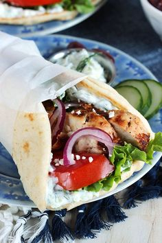 A quick and easy lunch or dinner, this Grilled Chicken Gyro recipe is a great prep ahead meal plan! So simple to whip up in minutes. | @suburbansoapbox