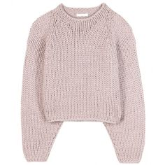 Chloé Cropped Sweater ($845) ❤ liked on Polyvore featuring tops, sweaters, shirts, jumpers, purple, pink top, crop top, purple top, shirt crop top and purple crop top