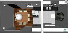 Reforma do escritório Atelier da Reforma. Casa Casa Jardim Paulistano para alugar - Vista superior Cozinha e Sala de Jantar