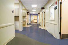Hospital Corridor Flooring by Armstrong Commercial Flooring