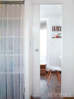 Sheer closet curtain