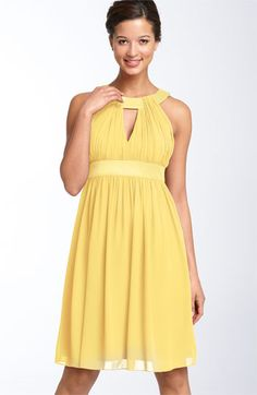 Keyhole Chiffon Dress by Maggy London, at Nordstrom.  Just FYI, I LOVE this cut.