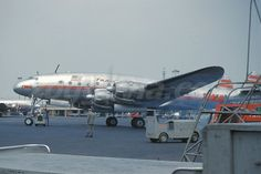 A TWA L-049 Constellation running up her engines for another trip from LAX