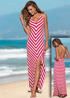 Striped maxi dress in the VENUS Line of Dresses for Women