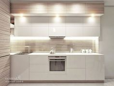 30 Beautiful Small Kitchen Design Ideas For Small Home - Page 22 of 34 Kitchen Room Design, Kitchen Sets, Modern Kitchen Design, Kitchen Layout, Interior Design Kitchen, Kitchen Decor, Tan Kitchen, Modern Kitchen Cabinets, Kitchen Furniture