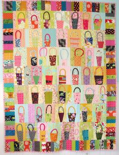 Basket Quilt (via Blue Elephant Stitches, pattern by Gwen Marstons from 'Liberated Quiltmaking #2')