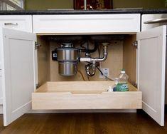 drawer under the kitchen sink
