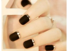 Gold and Black Nails | Online Shop China
