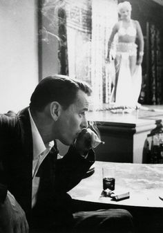"""Frank Sinatra with his cigarettes and famous""""JACK DANIELS! """""""
