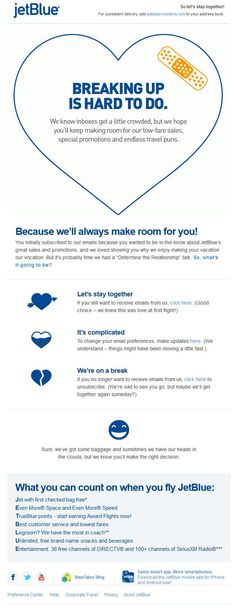one of the best re-engagement email examples  #EmailMarketing #EmailDesign #Copywriting @jeblue