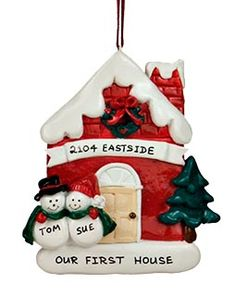 Our First House Ornament for when we have our first christmas in our home. :)