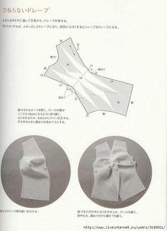 Pattern Magic 1 - Page 59 Vintage Dress Patterns, Dress Sewing Patterns, Vintage Sewing, Clothing Patterns, Pattern Cutting, Pattern Making, Japanese Sewing Patterns, Sewing Blouses, Modelista