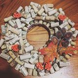 Our fellow wine-drinking DIYers would love this wreath by @madewithloveandwine!  #DIYProjects ___ See more #Christmas2016 decor ideas on our website! (link in bio)