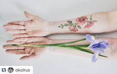 Оля,мальва,фото - все это сплошная красота💛🌸 #flower #flowertattoo #malva #dsfloral #ritkittattoo