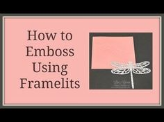 This quick crafting tip will show you how to emboss using framelits and thinlits in the Big Shot. Stampin� Up!, card, paper, craft, scrapbook, rubber stamp, hobby, how to, DIY, handmade, Live with Lisa, Lisa�s Stamp Studio, Lisa Curcio, http://www.lisass