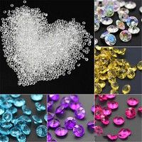 Mama | 1000pcs 4.5mm Acrylic Clear Diamond Confetti Wedding Party Table Scatters Decoration Crystals Centerpiece Festive Supplies