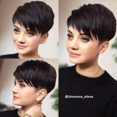- Modern Pixie haircuts are much more than a simple cut for short hair. They are incredibly varied and offer individual styling options. Of course it depends on which Pixie you wear and what you make of it. Because even the Pixie look usually needs som Short Pixie Haircuts, Pixie Hairstyles, Short Hairstyles For Women, Short Hair Cuts, Very Short Pixie Cuts, Pixie Haircut Styles, Pixie Cut Styles, Best Pixie Cuts, Long Pixie