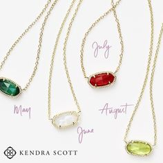 Sneak Peek! Check out these gorgeous Kendra Scott Birthstone Elisa Necklaces at Atlanta West Jewelry. #Birthstone #KendraScott