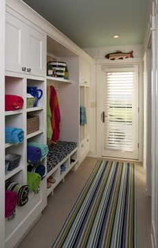 Example of closet design and custom cabinets at the Lakeshore Retreat from Grand Rapids Interior designer Francesca Owings