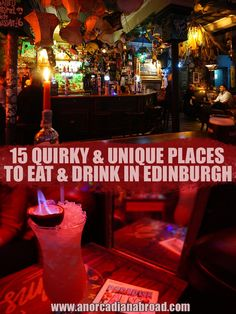 15 Quirky & Unique Places To Eat & Drink In Edinburgh – An Orcadian Abroad Edinburgh Bars, Edinburgh Restaurants, Edinburgh Travel, Pubs And Restaurants, Edinburgh Castle, Edinburgh Scotland, London Travel, Scotland Travel Guide, Scotland Road Trip