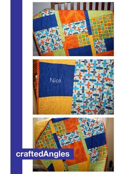 Personalized Baby Quilt from Fat Quarters