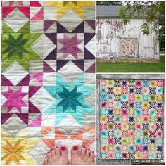 Rising Star Quilt using V and Co.Ombre Gradient fabrics with Moda Fabric