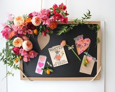 We're all about this Valentine's DIY for a thoughtful gift that's easy on the eyes and even easier to make. Learn how to craft your own stunner with this easy step-by-step. Valentine Activities, Valentine Day Crafts, Filofax, Valentine Bulletin Boards, Medical Office Decor, Industrial Office Design, Framed Chalkboard, Spring Projects, Valentines Day Decorations