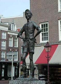 "Statue ""Het Lieverdje"" of Carel Kneulmans (1960) Spui, Amsterdam."