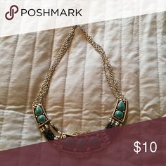 Turquoise costume  jewelry Torquoise, stone and bead necklace Accessories