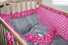Custom Leopard Crib Bedding Set by babyboos on Etsy, $325.00