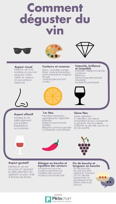 Initiation à la dégustation de vin Infographie crée par le Master 2 commerce des vins #vin #dégustation #infographie #m2cdv #winetasting #wine #tasting Guide Vin, Wine Education, Wine O Clock, Wine Fridge, In Vino Veritas, Wine Storage, Fine Wine, Wine Cellar, Wine Tasting