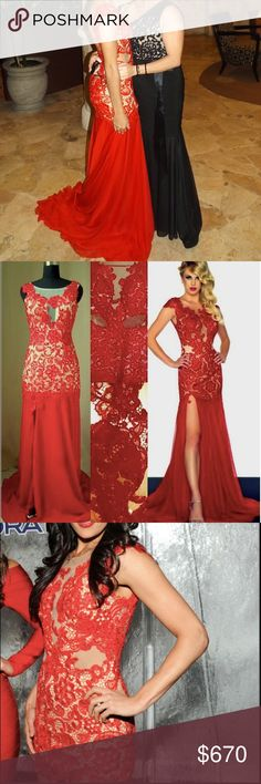 Prom dress Beautiful red prom dress! It only has been used once.  (Very long train) the first photo its me at my prom and in one of the photos you can see Brie Bella using the same dress but its the mini edition.  You can always take off the train with a professional. D'Royal Bride Dresses Prom