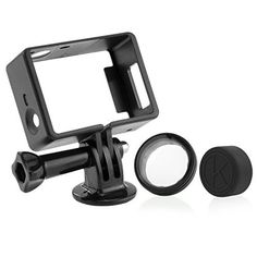 CamKix Frame Mount for GoPro Hero 4, 3+, and 3 / All Slots Fully Accessible - Light and Compact Housing - Includes a Large Thumbscrew / Tripod Mount / Rubber Lens Cap / UV Filter Lens Protector CamKix® http://www.amazon.com/dp/B00MVGRAOU/ref=cm_sw_r_pi_dp_ZswRvb1SKWR0W