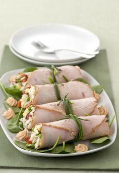 roast turkey rolls with cold rice Antipasto, Cena Light, Cooking Recipes, Healthy Recipes, Light Recipes, Food Design, Finger Foods, Italian Recipes, Food Inspiration